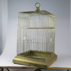 Victorian brass Parrot Cage (square)