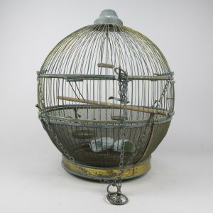 Brass globe Birdcage, antique