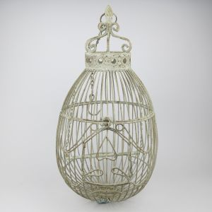 Ornate hanging metal cage