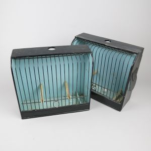 Pair of canary/finch cages