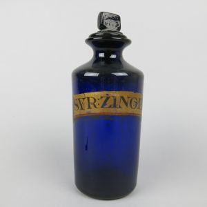 Blue chemist bottle