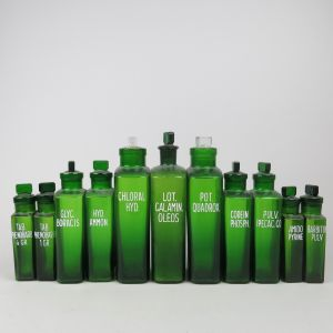Green chemist bottles